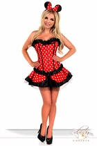 Corset Mini Mouse Costume with Skirt and Ears