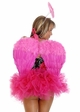 Corset Rockabilly Pin-Up Angel Costume with Feather Wings inset 1