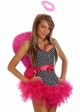 Corset Rockabilly Pin-Up Angel Costume with Feather Wings inset 3