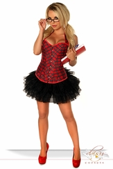 Corset Schoolgirl Costume with Black Petticoat