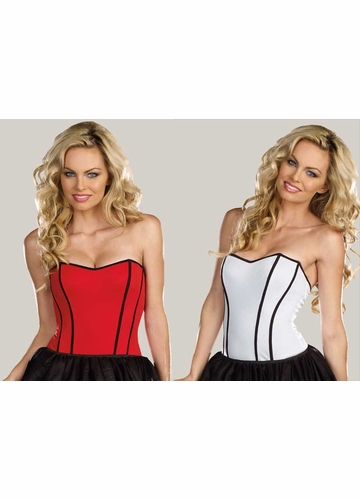 Costumes-2-in-1 Reversible Stretch Knit Corset