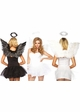 Costumes-Angel Costume Kit with Wings and Halo in Black or White inset 1
