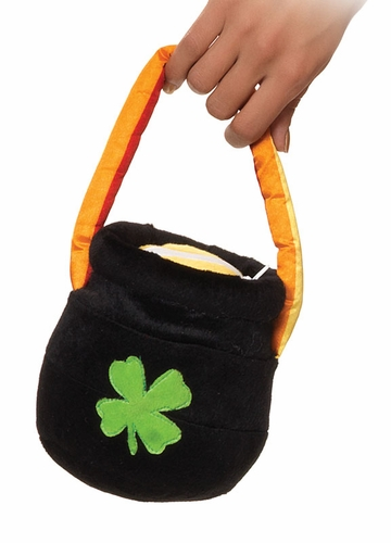 Costumes-Plush Pot of Gold Purse