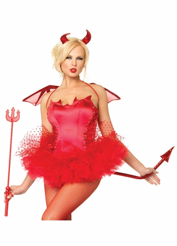 Costumes-Red Devil 3-Piece Accessory Kit