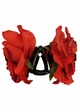 Country Rose Double Flower Jaw Hair Clip inset 1