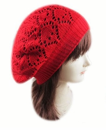 Crochet Knit Beret Hat