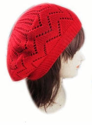 Crochet Winter Beret Hat