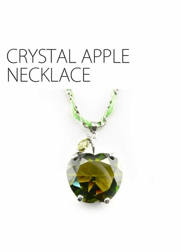 Crystal Apple Necklace