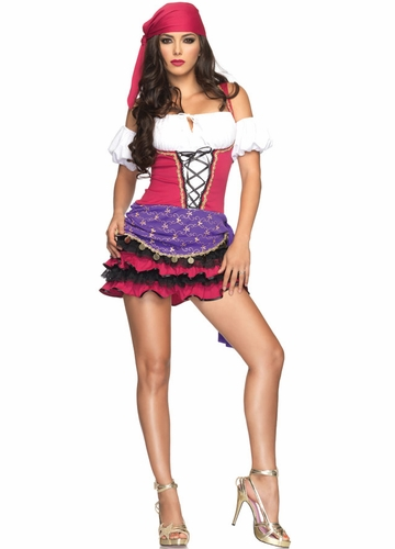 Crystal Ball Gypsy Girl Costume