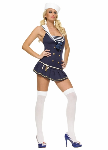 Cute Sailor Costume in Navy Blue