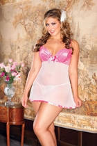 Cutie Pie Pink Babydoll and G-string