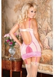 Cutie Pie Pink Lace Garter Dress and G-string inset 1