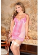 Cutie Pie Pink Lace Garter Dress and G-string inset 2
