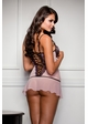 Dallas Pink Lace Mini Dress with G-string inset 1