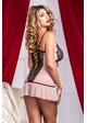 Dallas Pink Lace Mini Dress with G-string inset 3