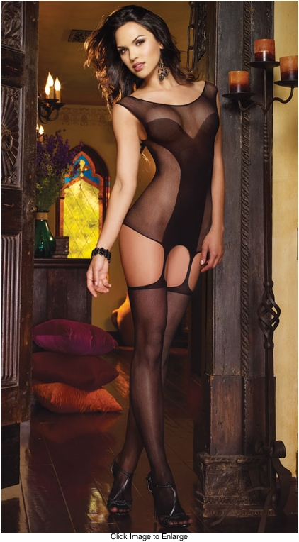 Dangerous Curves Garter Dress and Attached Stockings