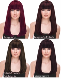 Dark Shades of Premium Salon Quality Long Kelly Wig