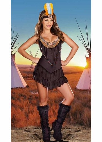 Deluxe Beaded Indian Maiden Costume