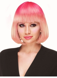 Deluxe Bob Wig in Flamingo Pink for $19.99