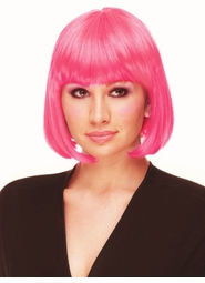 Deluxe Bob Wig in Hot Pink for $19.99