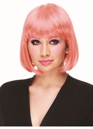 Deluxe Bob Wig in Light Pink for $19.99