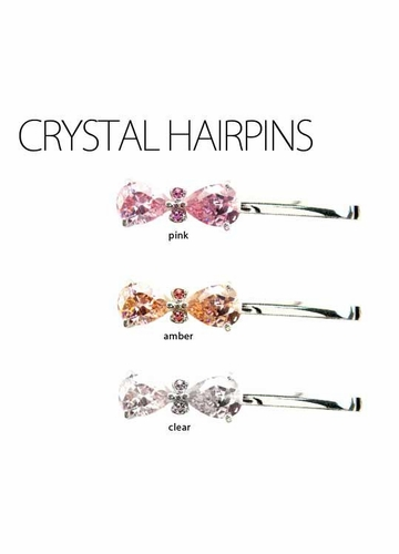 Deluxe Pear Cut CZ Hair Barrette