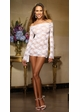 Deluxe Stretch Lace Off Shoulder Mini Dress inset 2