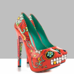 Designer Shoes with Printed Soles