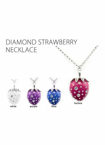 Diamond Sparkle Strawberry Necklace
