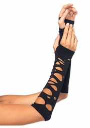 Distressed Net Arm Warmers