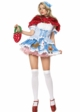 Dorothy Costume with Lion, Scarecrow and Tin Man Appliqu� inset 1