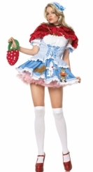 Dorothy Costume with Lion, Scarecrow and Tin Man Appliqu�