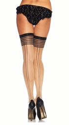 Double Backseam Thigh Highs