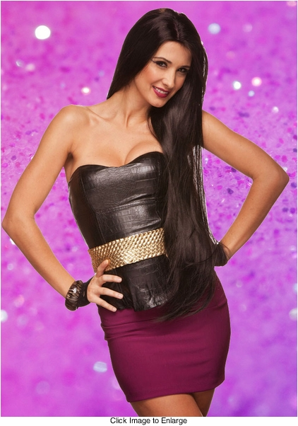 """Dramatic 38"""" Ultra Long Wig with Middle Part"""
