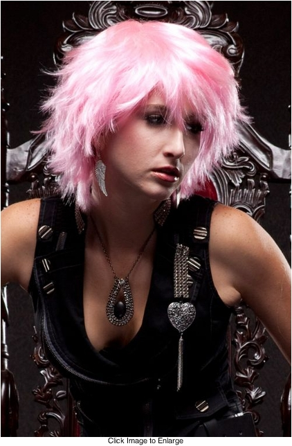Edgy Cotton Candy Pink Wig