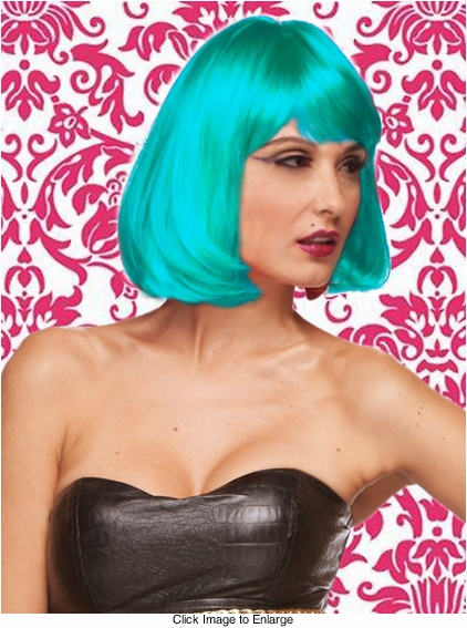 Edgy Page Style Wig in Light Blue