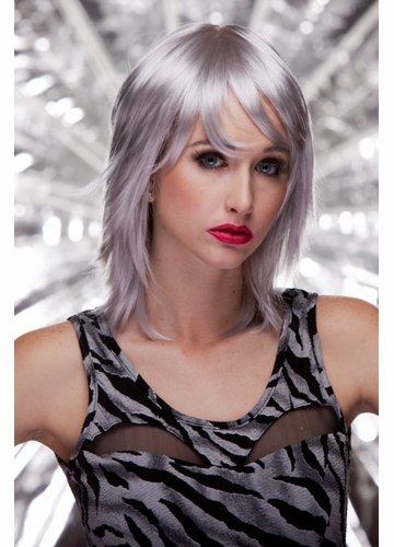 Edgy Shoulder Length Wig Kharma in Chrome