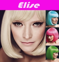 Elise- Sleek Bob Wig with Fringe