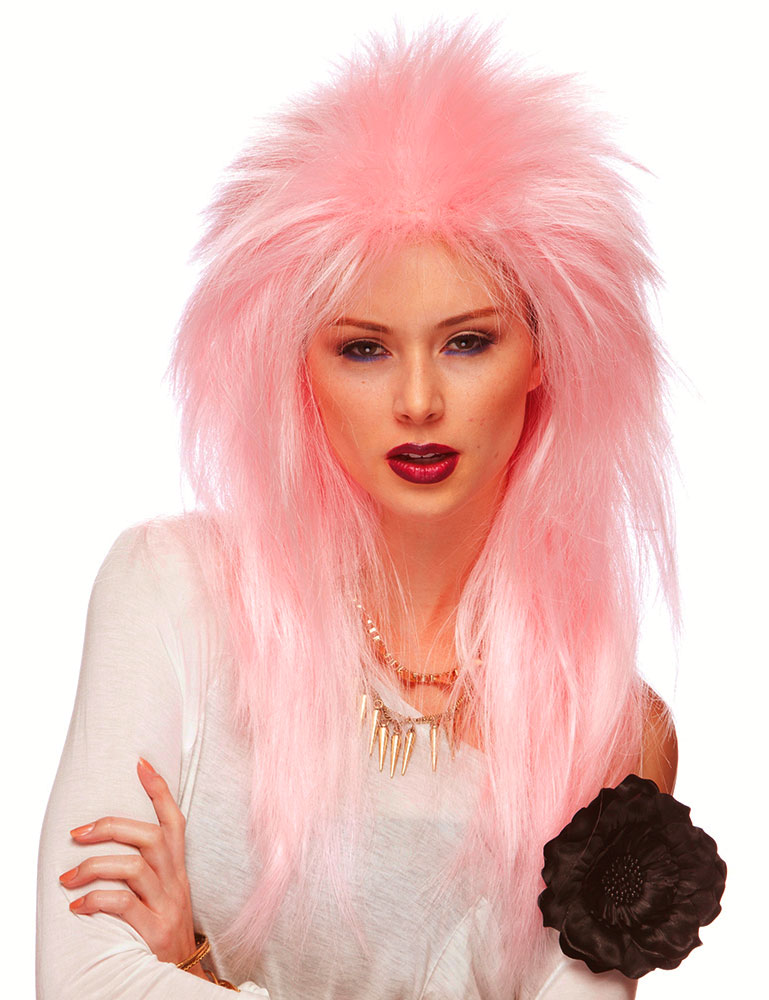 Extra Long Single Color Rocker Wig
