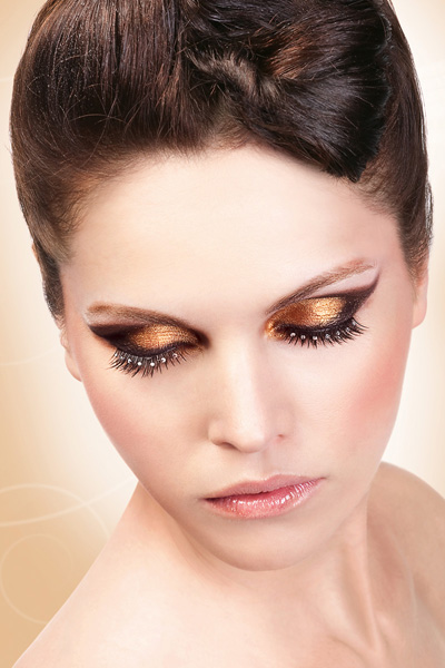 False Eyelashes -Black Lashes with White Crystals