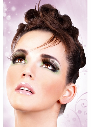 False Eyelashes -Dark Brown Shimmer Long Lashes
