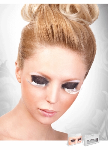 False Eyelashes -Glamorous White Fake Lashes