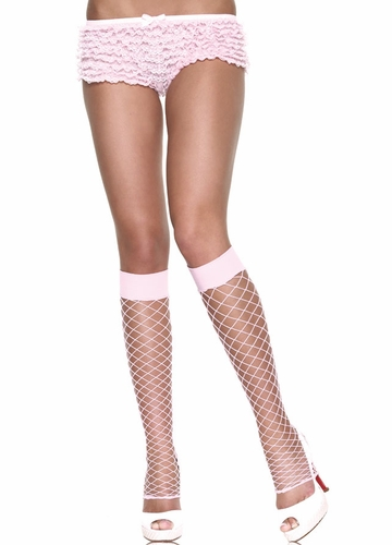 Fishnet Fence Net Leg Warmers