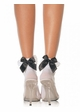 Flirty Ankle Socks with Lace Ruffle and Bow inset 2