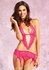Flirty Pink Lace Cutout Dress with Open Crotch G-string