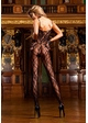 Floral Lace Bodystocking with Criss Cross Back inset 1