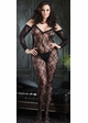 Floral Lace Bodystockings with Attached Sleeves inset 1