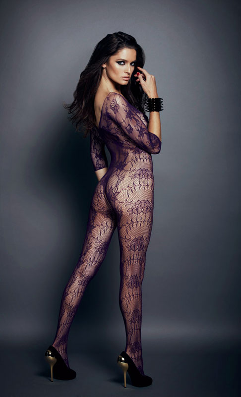 Floral Net Bodystocking