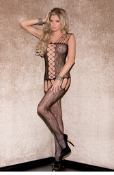 Floral Net Cami Bodystocking
