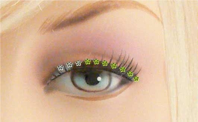 Flower Eyelid and Hair Jewels